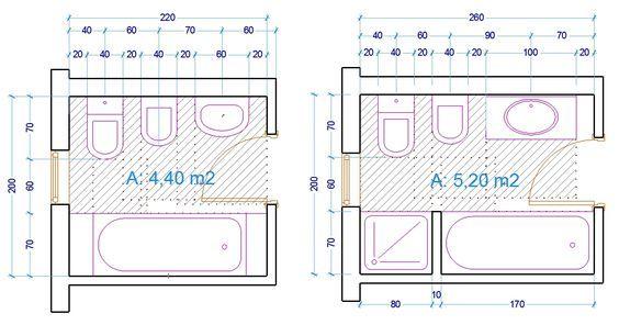 esempio dimensioni sanitari bagno con vasca | arredi casa nuova ...
