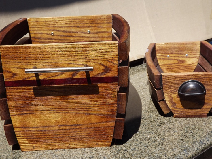 Ooooo what a great gift idea for someone. Either just to fill with a basket full of holiday goodies, or as decor for a home. These high-end wine stave baskets are inlaid with hardwood for some extra style and are sure to last a lifetime.