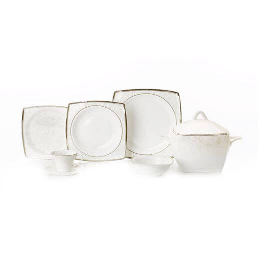Emsan Fine Bone ( BLC- 584 ) Porselen Yemek Takımı ince porselen tasarımı ile özel davetlerinizde sofralarınıza unutulmaz bir şıklık ve zerafet katacaktır.