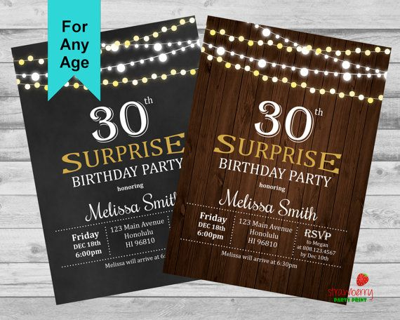 1708 best Teens Adult Birthday images – Surprise 30th Birthday Invites
