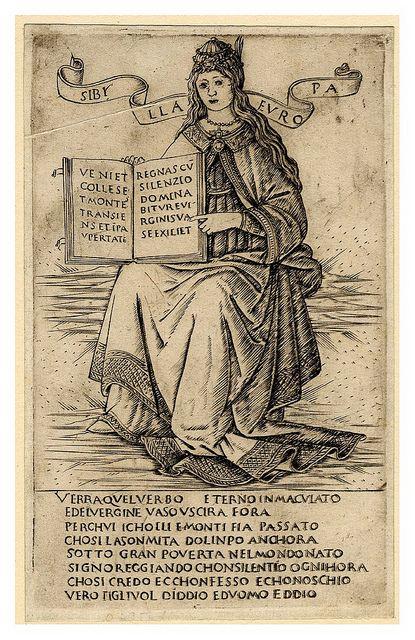 Sibila Europea. Francesco Roselli, 1480-90