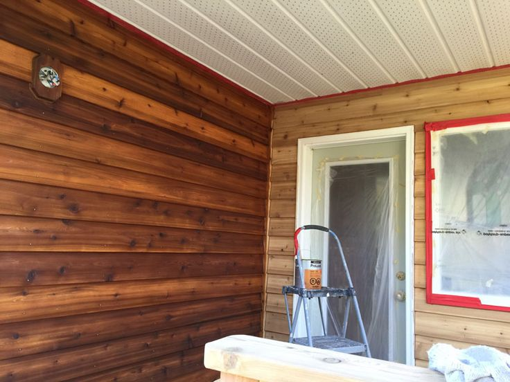 Dark Western Red Cedar Siding Stained With Sikkens Proluxe