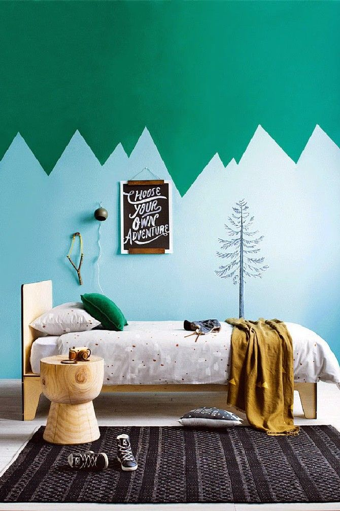 Green and Blue kid's room   15 COLORFUL CHILDREN'S ROOM IDEAS - see more at http://delightfull.eu/blog/2015/12/01/colorful-childrens-room-ideas/