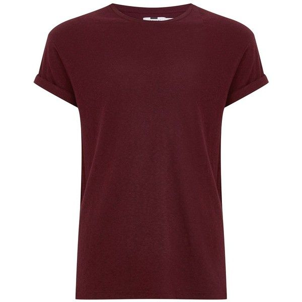TOPMAN Burgundy Linen Muscle Fit T-Shirt ($16) ❤ liked on Polyvore featuring men's fashion, men's clothing, men's shirts, men's t-shirts, men, shirts, burgundy, mens short sleeve linen shirts, mens linen shirts and mens crew neck shirts