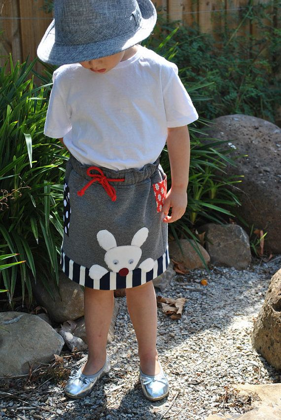 Girls skirt sewing pattern Funny Bunny Skirt by FelicityPatterns