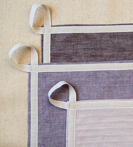 A New Adjustable Unisex Apron and Simple Dishtowels | Purl Soho - Create