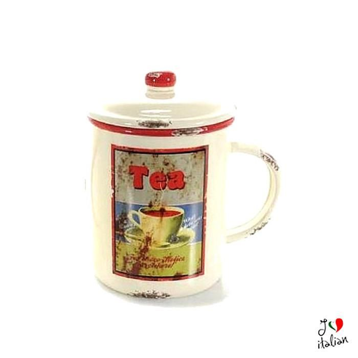 Ceramic tea container with lid - Kitchen - €16.90