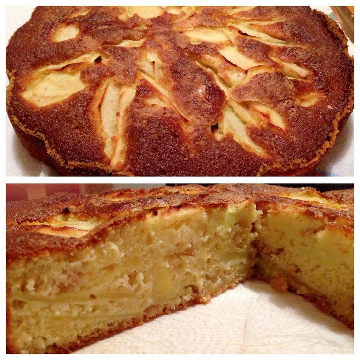 Torta di mele e arachidi senza burro