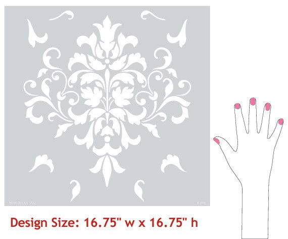 Wall Stencil | Foliate Damask Stencil | Royal Design Studio