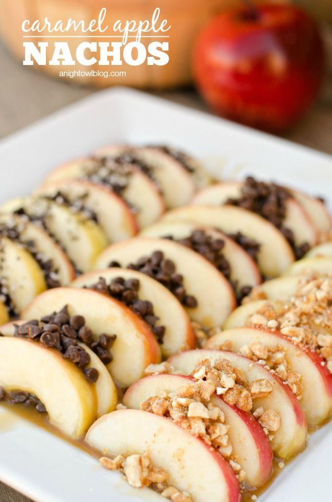 Easy Caramel Apple Nachos