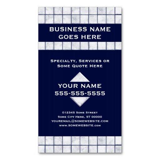 Pro tile business cards