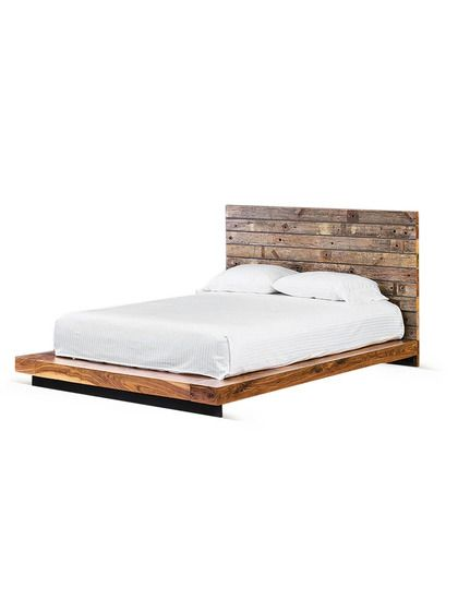Reclaimed California King Bed by Four Hands at GiltReclaimed California King Bed:  Demolition wood platform bed frame Reclaimed hardwood construction Walnut finish California King size measures 82 inches in width by 92 inches in depth by 40 inches in height because i like walnut