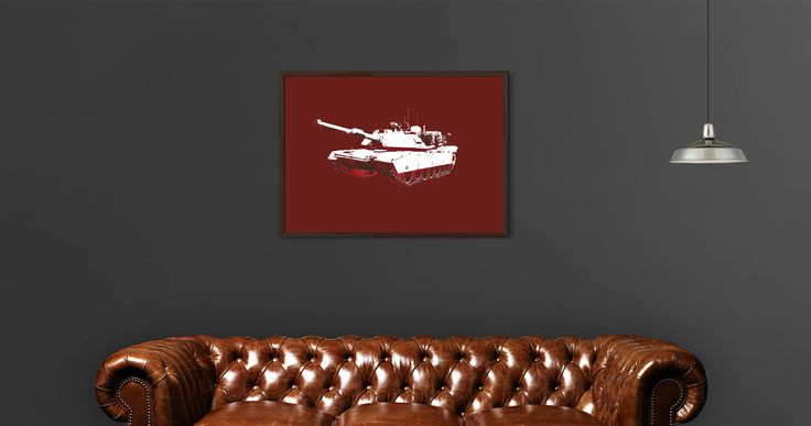 M1A1 Tank Printable Wall Art by PlatinumRoom on Etsy