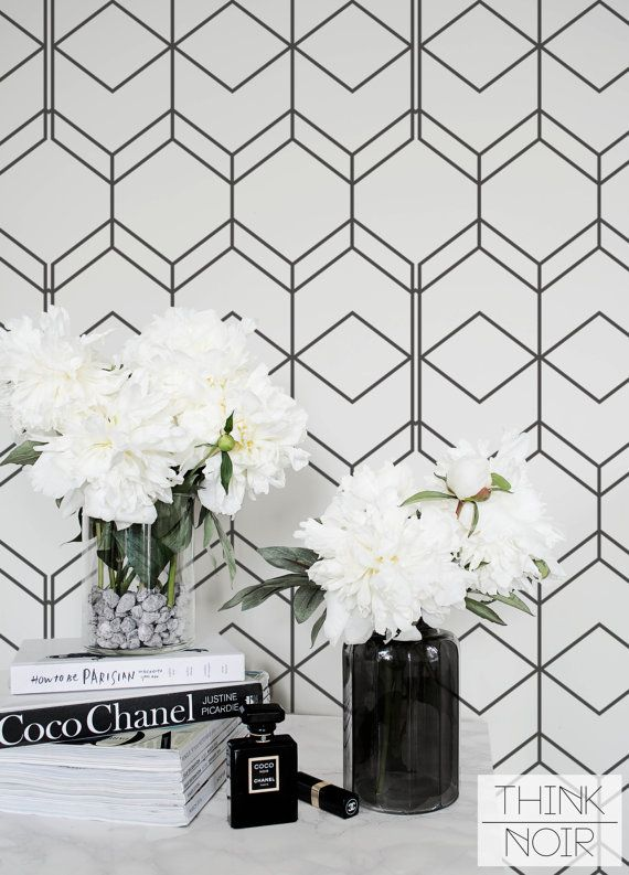 Simple Geometric Removable Wallpaper / Self Adhesive / Regular Wallpaper / Wall Mural /