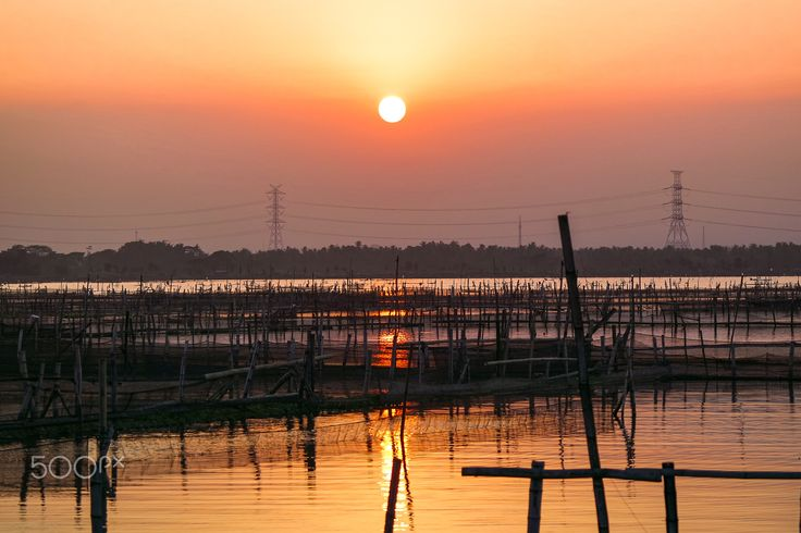 Sun Jombor Set - This is Rawa Jombor, a small natural lake that people used itu to fished and another.
