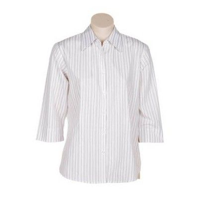 Womens Variegated Striped 3/4 Sleeve Shirt Min 25 - Clothing - Business Shirts - Her Business Wear - AS-UN20041 - Best Value Promotional items including Promotional Merchandise, Printed T shirts, Promotional Mugs, Promotional Clothing and Corporate Gifts from PROMOSXCHAGE - Melbourne, Sydney, Brisbane - Call 1800 PROMOS (776 667)