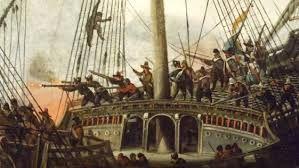 297 – (1543 - 25 de julio) En la costa de Galicia, Francia y España se enfrentan en la batalla naval de Muros, fue una victoria militar española que tuvo lugar en las aguas de esta población gallega. En ella se enfrentaron una escuadra francesa de 25 naves, al mando de Jean de Clamorgan y del corsario Hallebarde, y una española de 16 naves al mando de Álvaro de Bazán