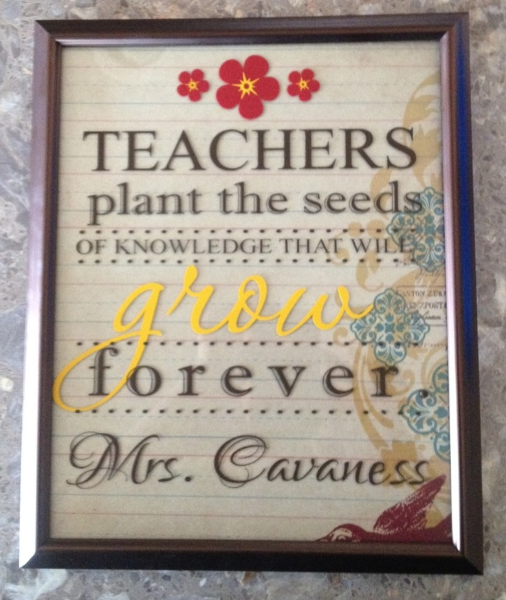 Quotes About Teachers Planting Seeds: Teachers Plant Teh Seeds Of Knowledge That Will Grow
