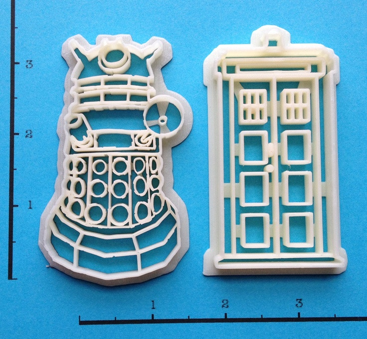 Dr Who Cookie Cutter Set. 12.00, via Etsy.
