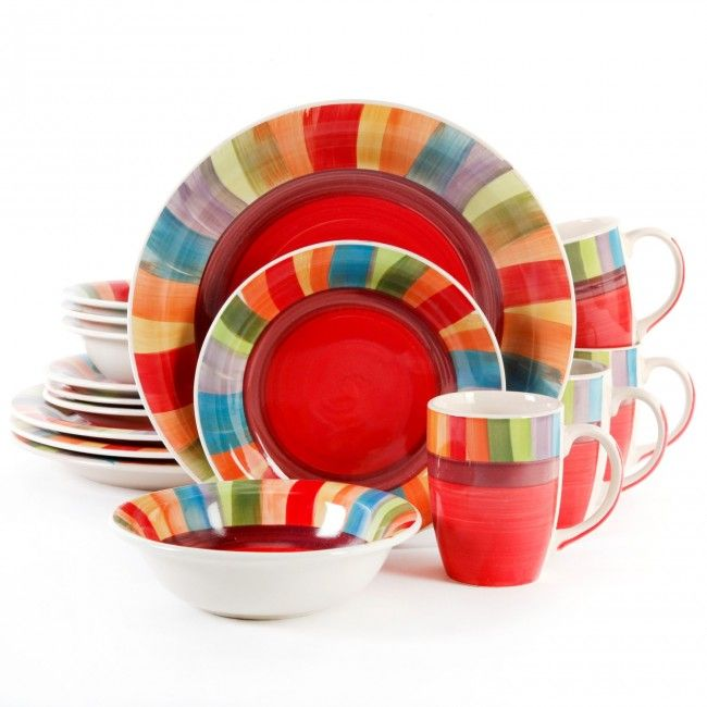 Gibson Home Sierra Vista 16-Piece Dinnerware Set