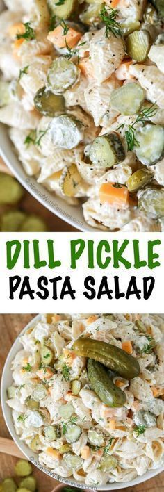 This was the first thing gone at our potluck!! Dill Pickle Pasta Salad is loaded with tons of flavor and crunch! Pickles, cheese and a hint of cayenne make the best pasta salad and tastes even better when it's made ahead!