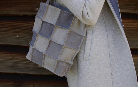 #suedebag #greybag #suedetote #leatherbag #leathertote