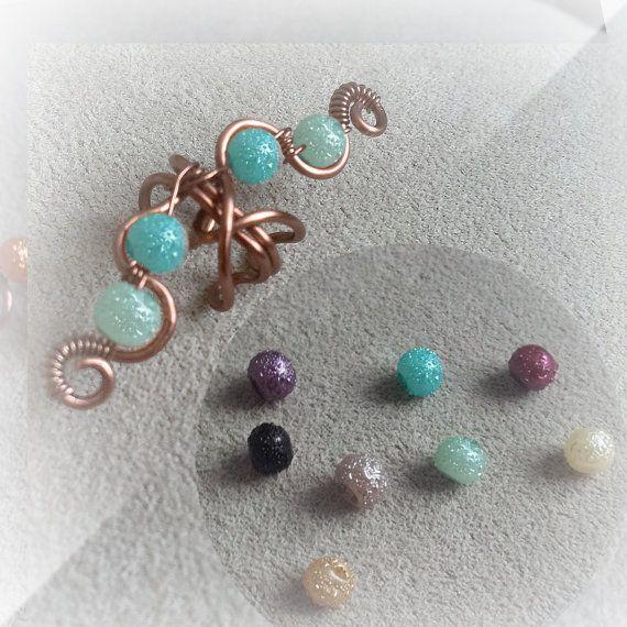 Oído de cobre antiguo brazalete cristal Luna por ElectriccDreams