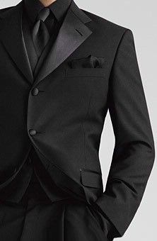 groomsmen tux.... add purple tie.... groom...with white shirt and purple tie