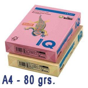 Papel de colores en delicados tonos pastel.  Idóneos para impresión inkjet, láser y fotocopias de la más alta calidad.  Paquete de 500 hojas A4 de 80 grs.  Color: Amarillo pálido