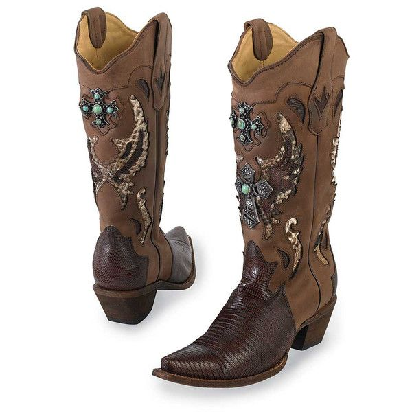 Silver cross cowgirl boots. | King Ranch Saddle Shop