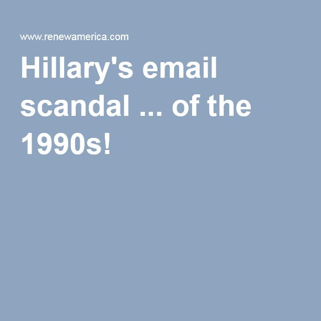 June 13, 2016--Hillary's email scandal ... of the 1990s!- (can we say 'HABITUAL?) MUST READ! The time was the late 1990s. The Wicked Witch of the Left, Hillary Clinton and her degenerate husband, Bill, remained embroiled in scandal after scandal, Monica Lewinsky being the least of it.  While at Judicial Watch, the government-ethics watchdog I founded in 1994, I uncovered perhaps the biggest scandal in American history, maybe even exceeding Watergate and Tea Pot Dome. The Clintons and their…
