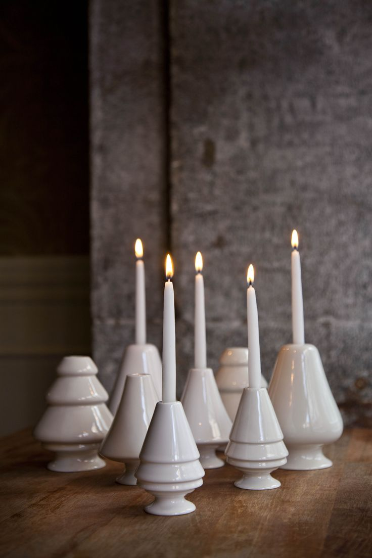 You can get the beautiful candlesticks from Avvento in green, red, grey and white. Choose your favourite colour or mix the line.