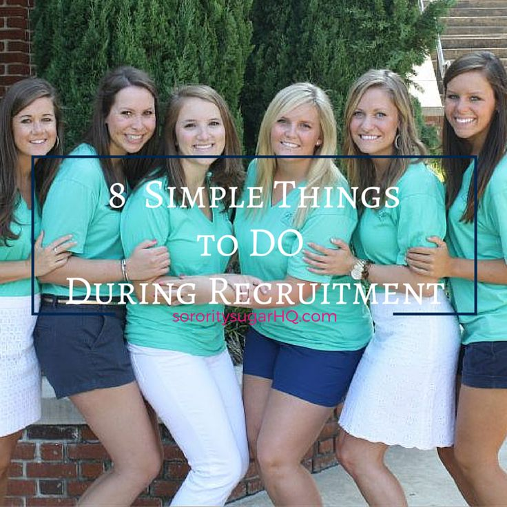 "There's lots of sorority advice posted for PNMs this time of year. Sometimes it's helpful to get back to BASICS and focus on some tried & true tips for going greek! Check out today's NEW post on sororitysugarHQ.com ~ ""8 SIMPLE THINGS TO DO DURING RECRUITMENT."" Straightforward actions a PNM can take for maximum sorority success this fall! <3"