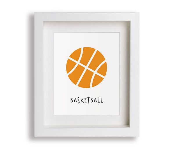 NEW! Basketball Nursery Art Print