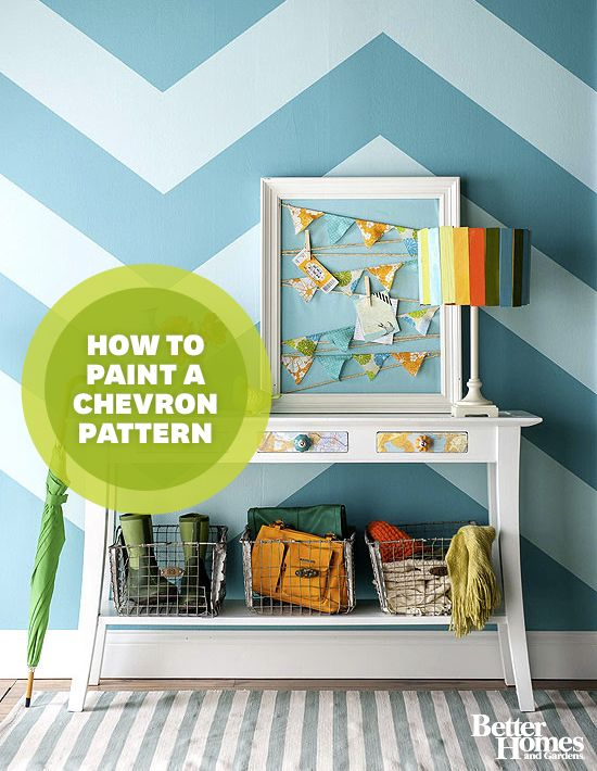 Painted chevron & patterns are fun! Which room would I use this in? #5thWaLL