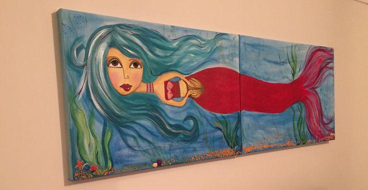 Acrylic on canvas Mermaid
