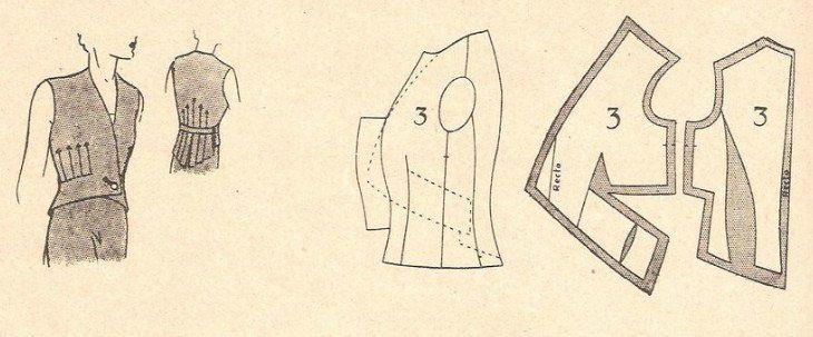 Ретро-выкройки жилетов
