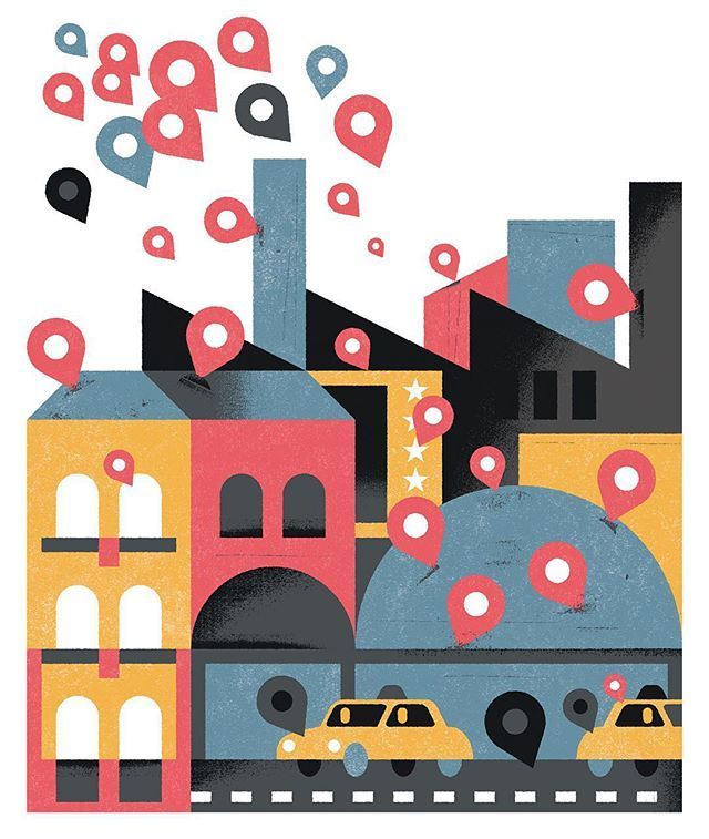 aron vellekoop leon | Cover illustration for NRC Handelsblad on the unrest start-ups like Uber and Airbnb have created in their industries.