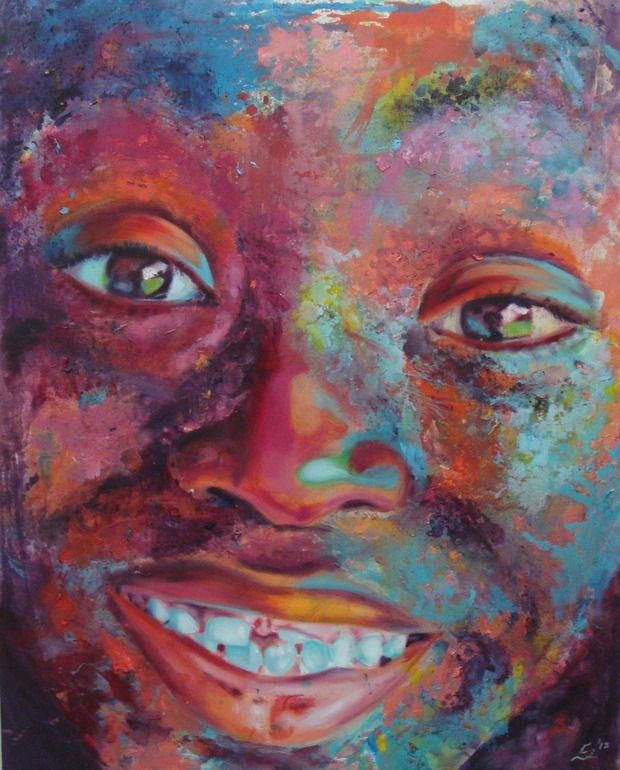 Saatchi online artist: Esther Griffith; oil painting 'i.am.joy.'
