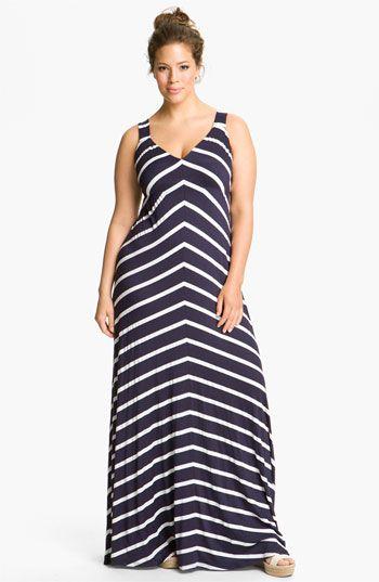 Stripe Maxi Dress #plus #size