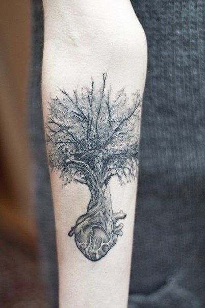 I want mine to look kind of like this but without the heart--heart and tree tattoos | heart tree tattoo | Tattoo