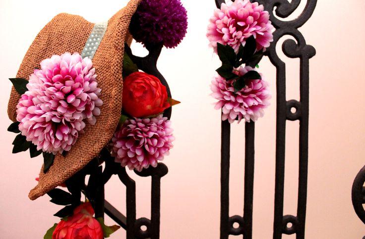 Sombrero de fibra natural colección Bouquet