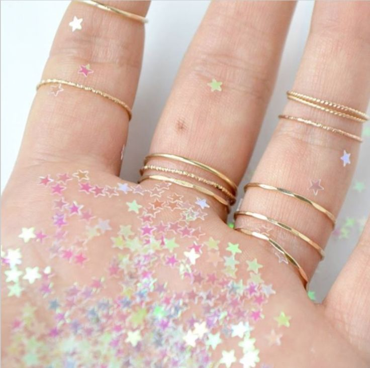 Love piling on Fresh Tangerine's stacking rings - they're only $16!