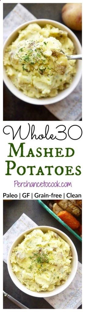 Whole30 Mashed Potatoes | Perchance to Cook, www.perchancetoco...