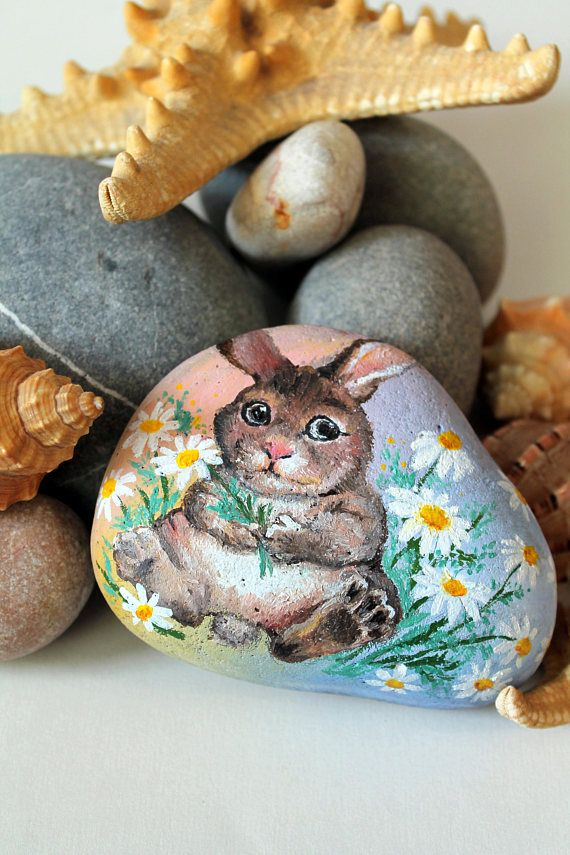 Easter rocks 1565 pinterest painted rock easter bunny pattern goddaughter gifts rabbit pattern easter present idea gift for goddaughter ute rabbit gifts happy easter negle Images