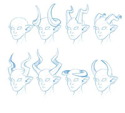 tiefling/demon character horn designs in 2019 | Demon ...