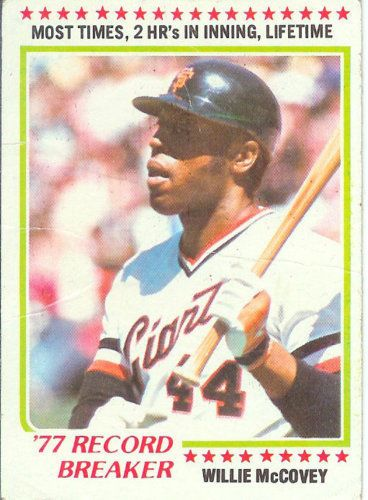1978 Topps #3 Willie McCovey  San Francisco Giants Record Breaker - GD #sfgiants #SanFranciscoGiants