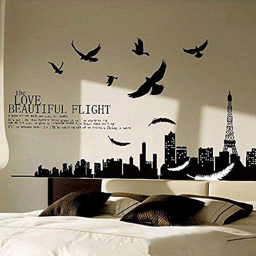 Miryo-70x200cm Grande Pegatinas Adhesivos vinilos decorativos pared Ciudad de Paris torre eiffel removible para sala de estar dormitorio Miryo http://www.amazon.es/dp/B00Q2GDZ0I/ref=cm_sw_r_pi_dp_yaEzvb0HTDF2V