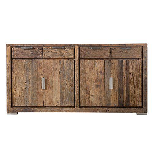 Massives Sideboard BARRACUDA Antik 170cm Recycelt Teak Holz Schrank Kommode