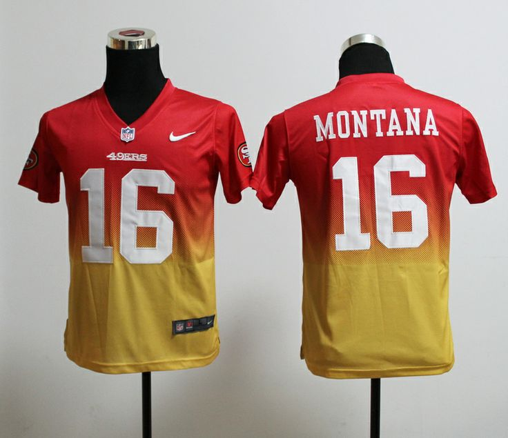 ... Nike red home game NFL jersey San Francisco 49ers 7 Colin Kaepernick  drift Jersey. 49ers 16 Joe Montana Drift Fashion II 7 Elite ... c97a97472